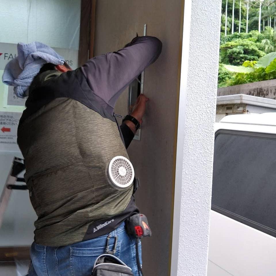 外壁穴の補修