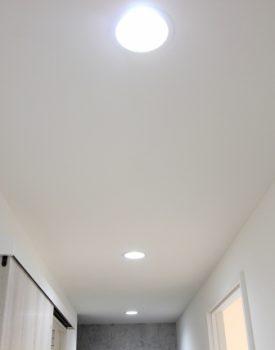 天井にダウンライトを取り付けておしゃれに変身