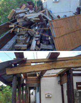 南風原町の解体工事始まりました。