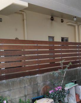 木製フェンス設置