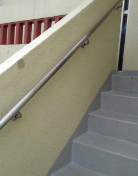 外階段手摺り設置