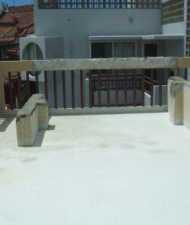 屋上水タンク解体工事